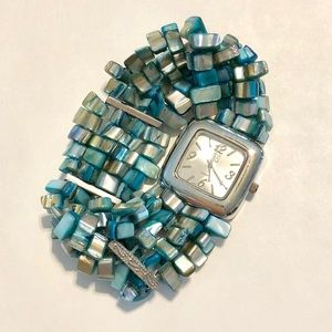 Beautiful Turquoise and Sterling Beaded Watch